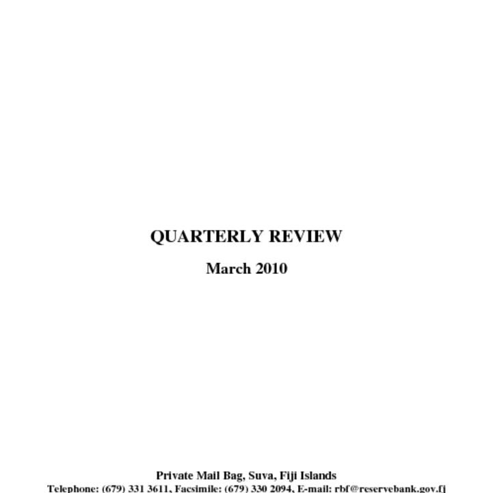 thumbnail of Quarterly Review (March 2010)