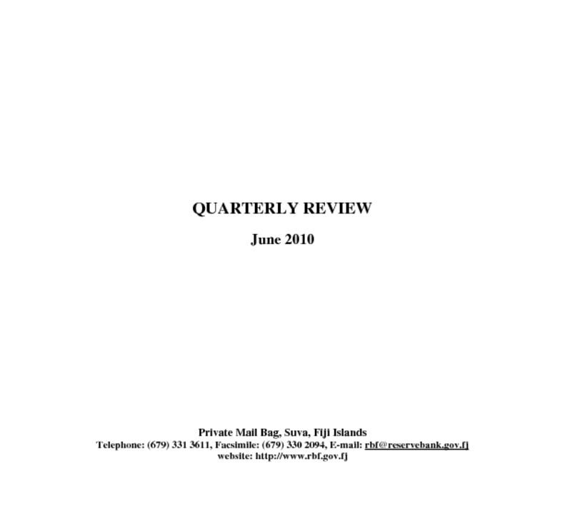 thumbnail of Quarterly Review (June 2010)