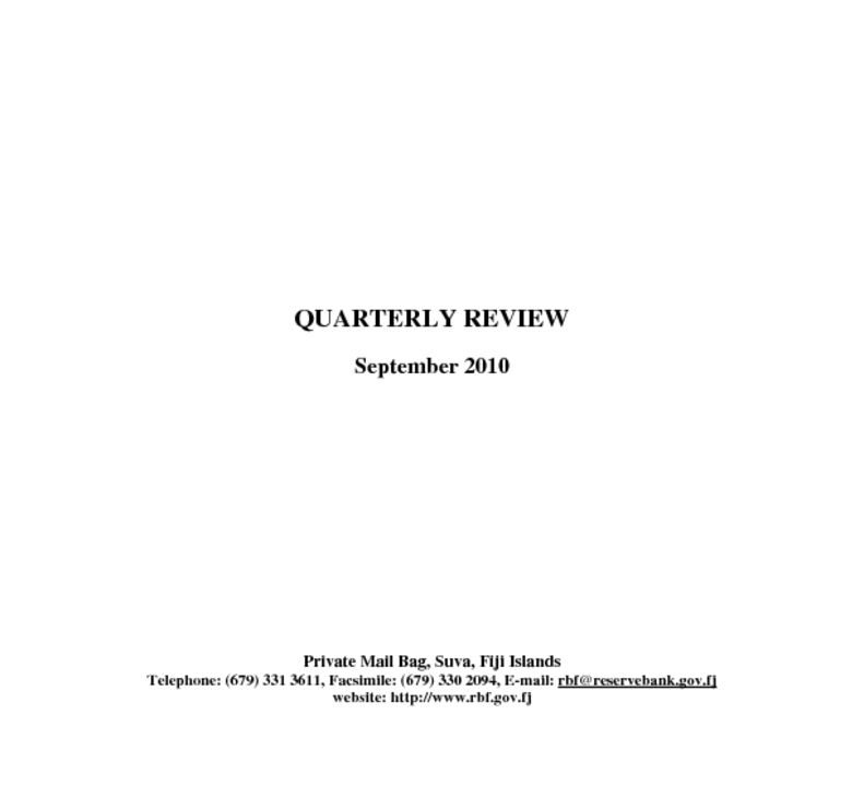 thumbnail of Quarterly Review (September 2010)