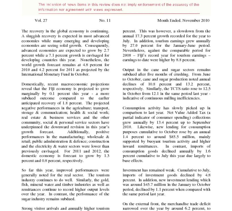 thumbnail of Economic Review – November 2010