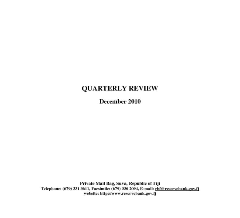 thumbnail of Quarterly Review (December 2010)