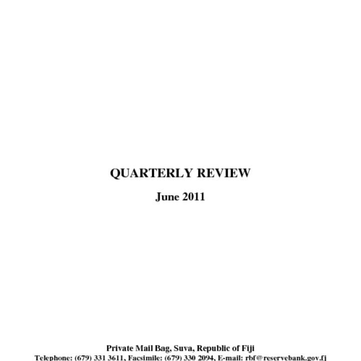 thumbnail of Quarterly Review (June 2011)