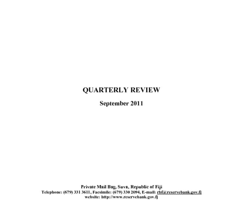 thumbnail of Quarterly Review (September 2011)
