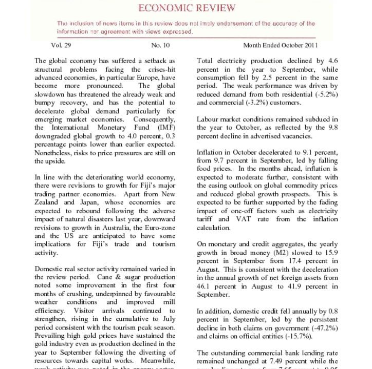 thumbnail of Economic Review – October 2011