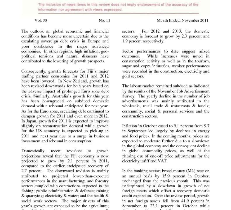thumbnail of Economic Review November 2011