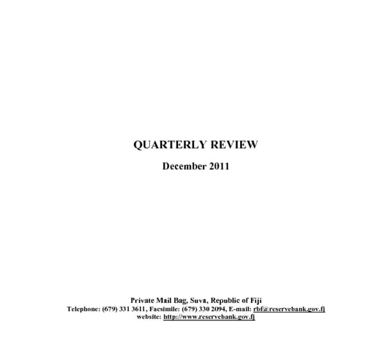 thumbnail of Quarterly Review (December 2011)