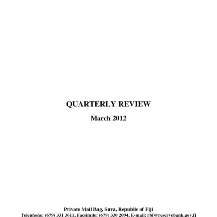 thumbnail of RBF Quarterly Review – March 2012