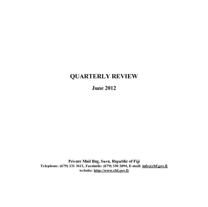 thumbnail of RBF Quarterly Review – June 2012