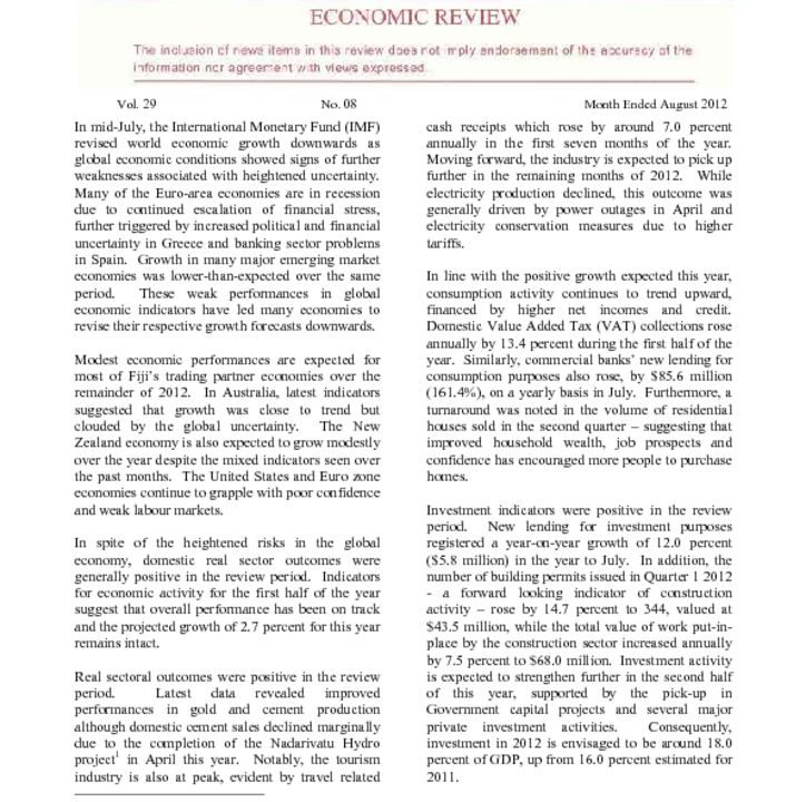 thumbnail of Economic Review August 2012
