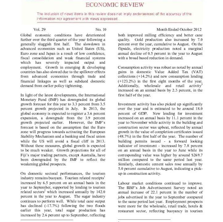 thumbnail of Economic Review October 2012