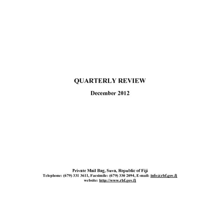 thumbnail of RBF Quarterly Review – December 2012