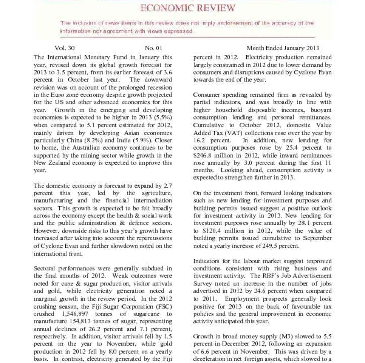 thumbnail of RBF Economic Review – January 2013
