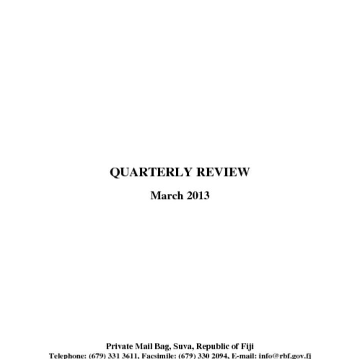 thumbnail of RBF Quarterly Review – March 2013