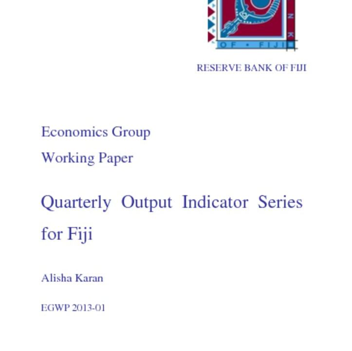 thumbnail of Quarterly Output Indicator Series For Fiji