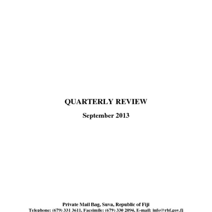 thumbnail of RBF Quarterly Review – September2013