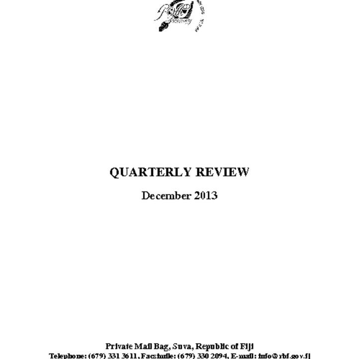 thumbnail of RBF Quarterly Review – December 2013