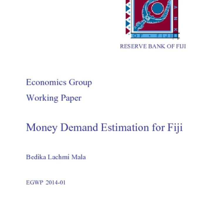 thumbnail of Working-paper-2014-01-(Money-Demand-Estimation-for-Fiji)