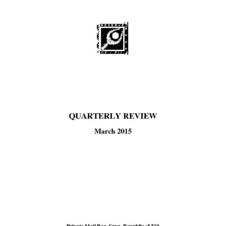 thumbnail of Quarterly Review – March 2015