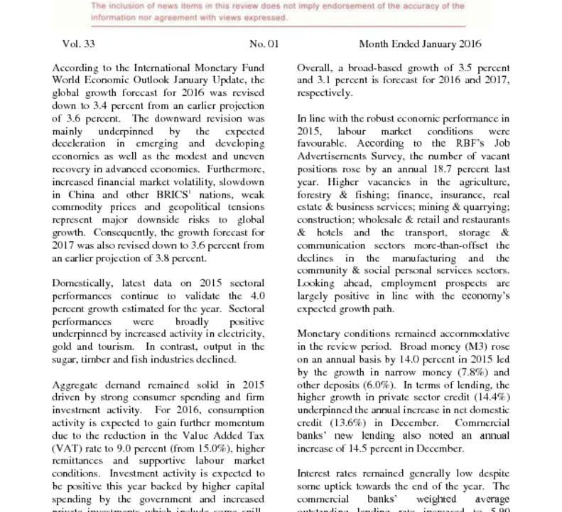thumbnail of Economic Review January 2016