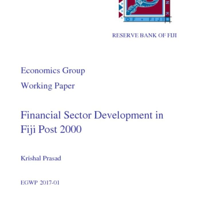 thumbnail of Financial-Sector-Development-in-Fiji-Post-2000