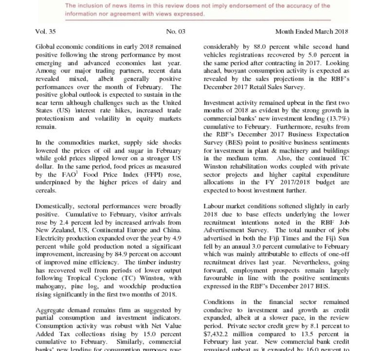 thumbnail of Economic Review March 2018