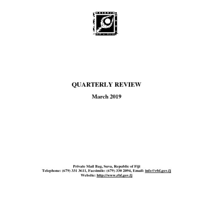 thumbnail of Quarterly Review March 2019