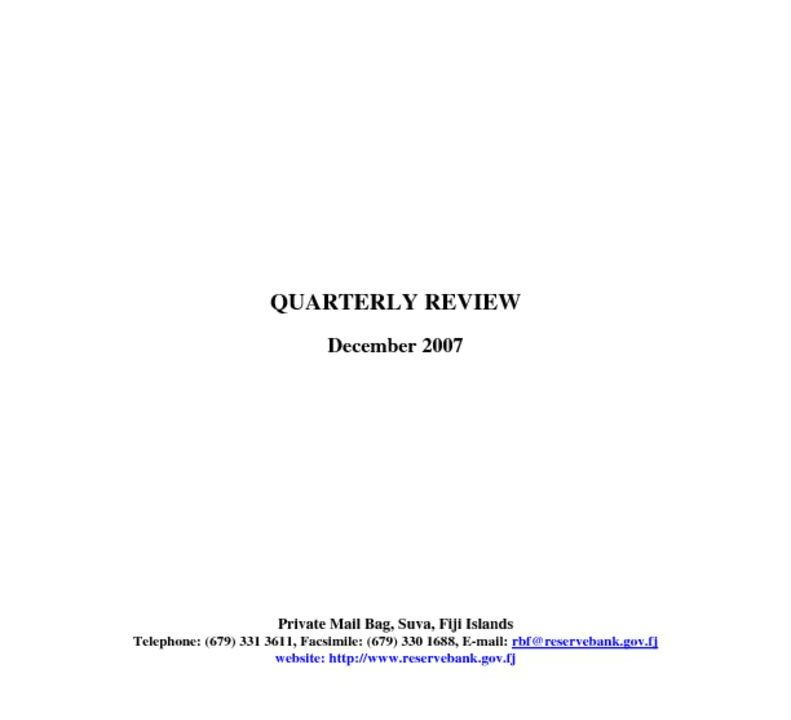 thumbnail of Dec-07 Quarterly Review