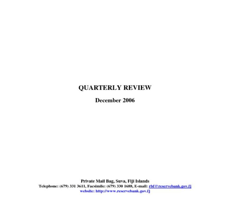 thumbnail of December 2006 Quarterly Review – RBF