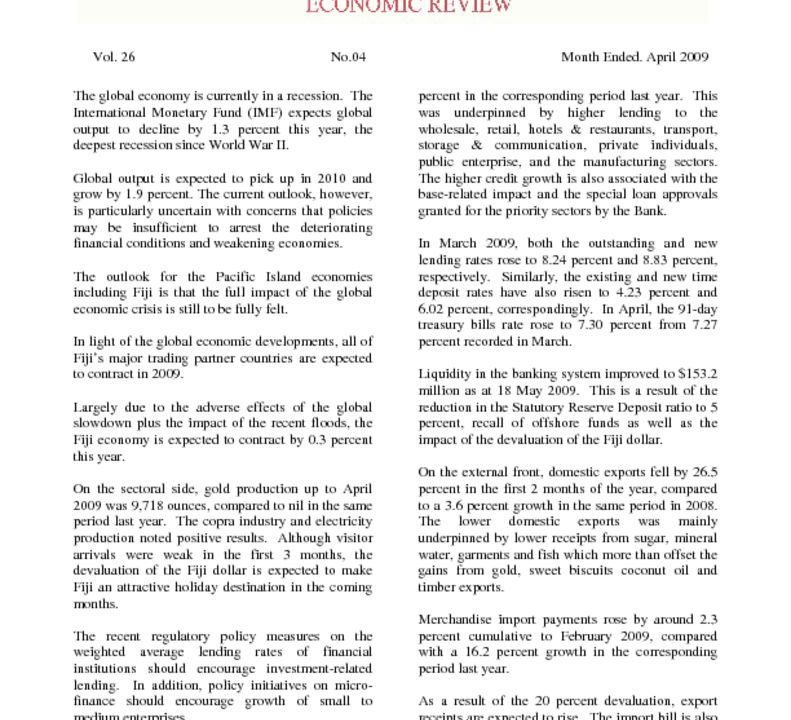 thumbnail of Economic Review April 2009