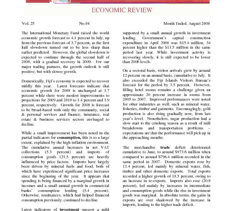 thumbnail of Economic Review – Aug 2008