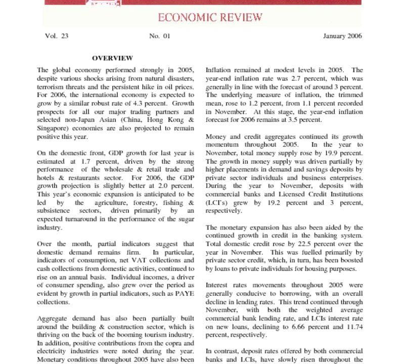 thumbnail of Jan06 Economic Review