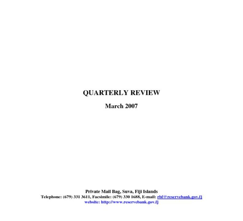 thumbnail of March 2007 Quarterly Review