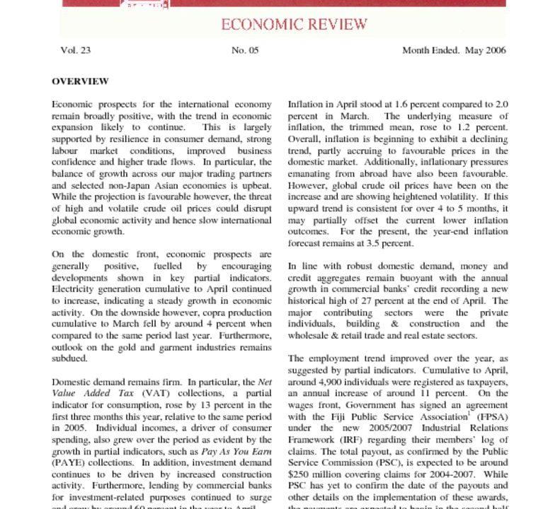 thumbnail of May06 Economic Review
