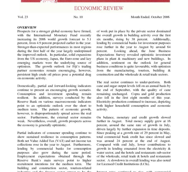 thumbnail of Oct-06 Economic Review