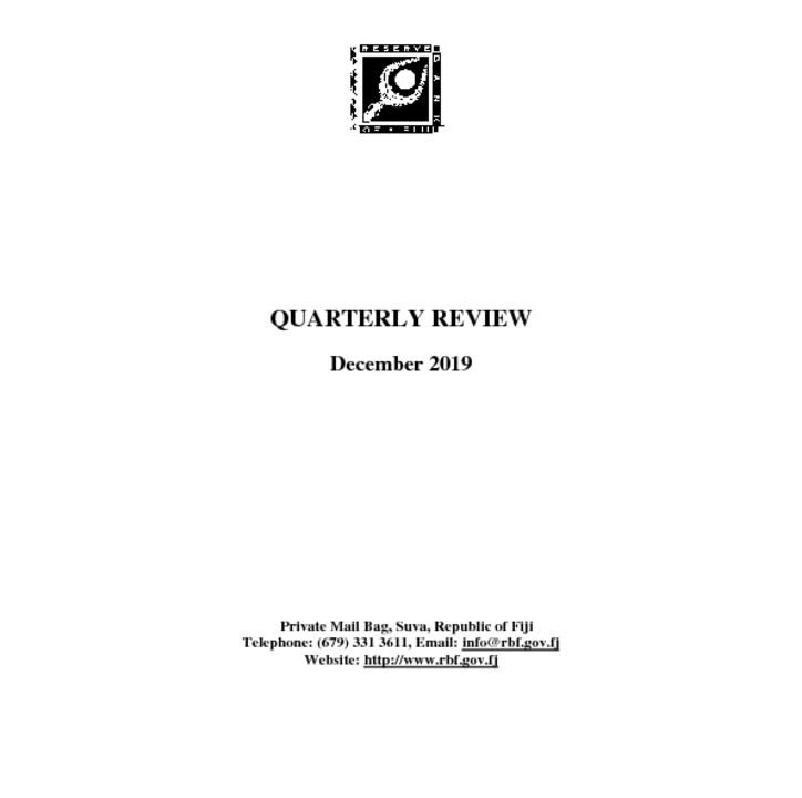 thumbnail of Quarterly Review December 2019