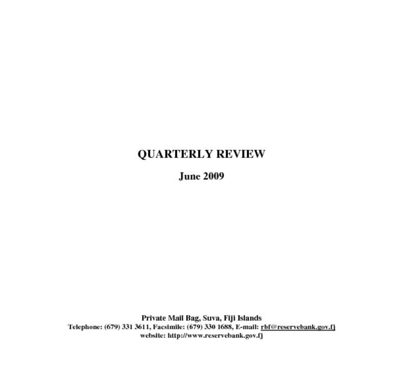 thumbnail of Quarterly Review (June 2009)