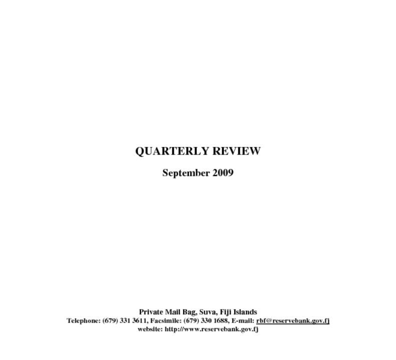 thumbnail of Quarterly Review (September 2009)