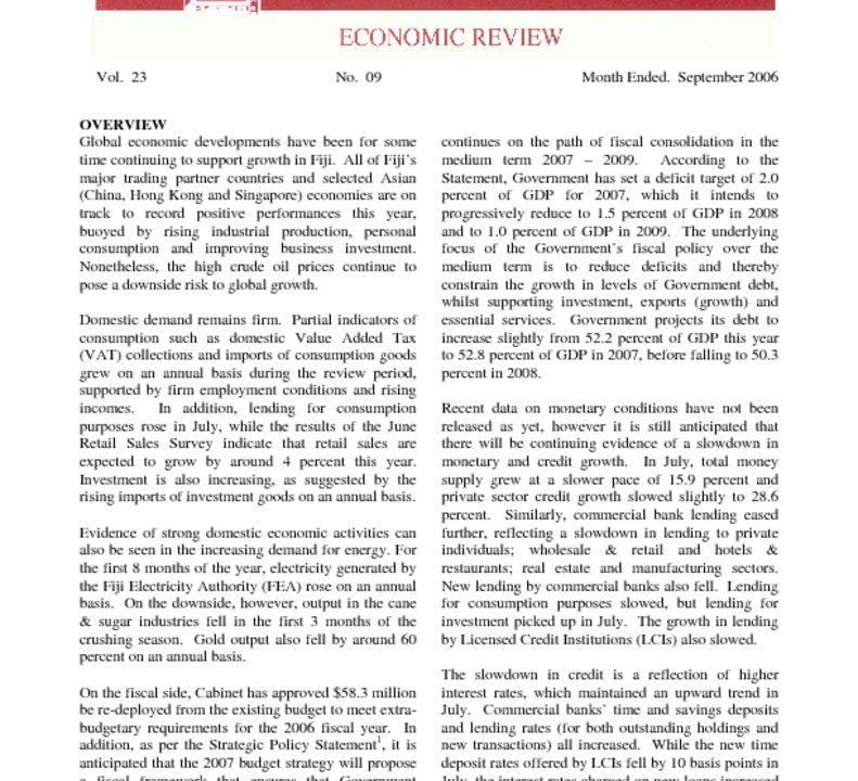 thumbnail of Sep06 Economic Review