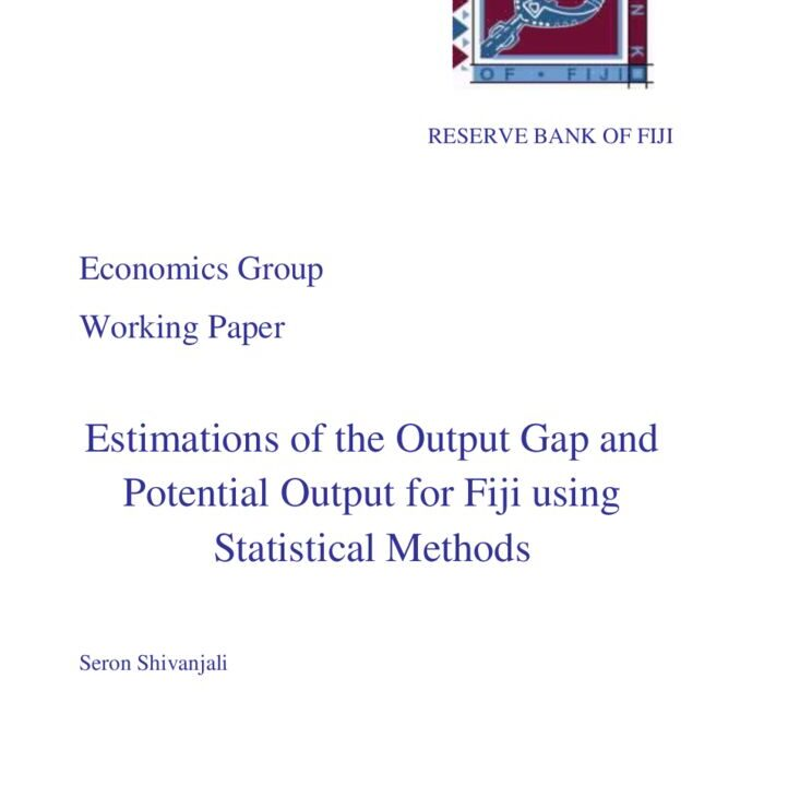 thumbnail of Estimations of the Output Gap and Potential Output for Fiji using Statistical Methods